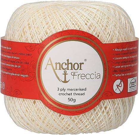 Anchor Freccia - Hilo de ganchillo (grosor 6, 100% algodón ...