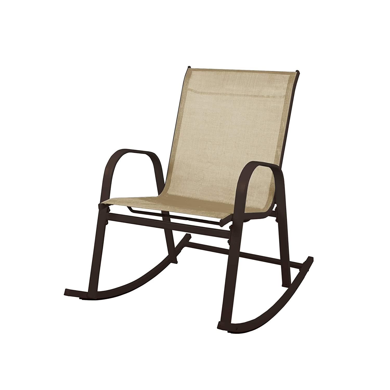 Marvelous Amazon Com Overstock Steel Textilene Fabric Patio Rocking Unemploymentrelief Wooden Chair Designs For Living Room Unemploymentrelieforg
