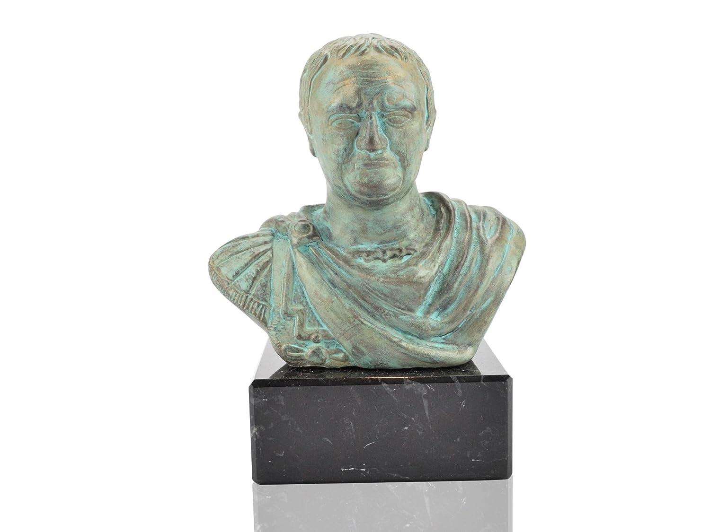 Vespasian römische Kaiser Büste bronziert roemische Statue Forum Traiani
