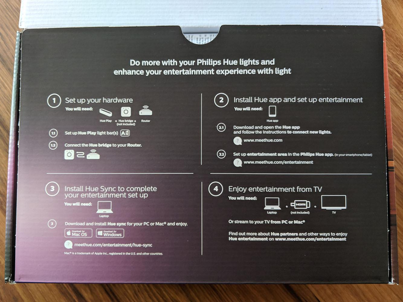 Philips Hue White and Color Ambiance Play Lightbar, dimmbar, bis zu