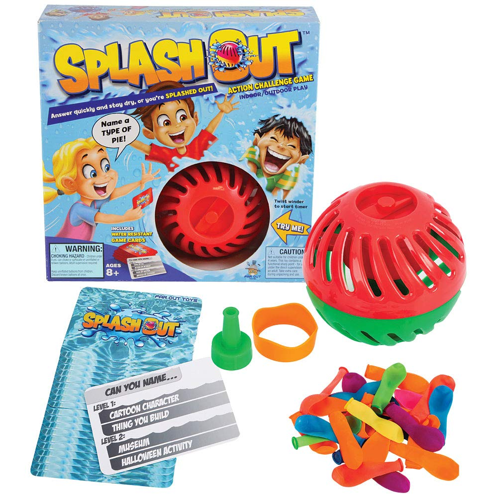 License To Play Splash Out Game Indoor/Outdoor Fun Trivia and Water Balloon Challenge