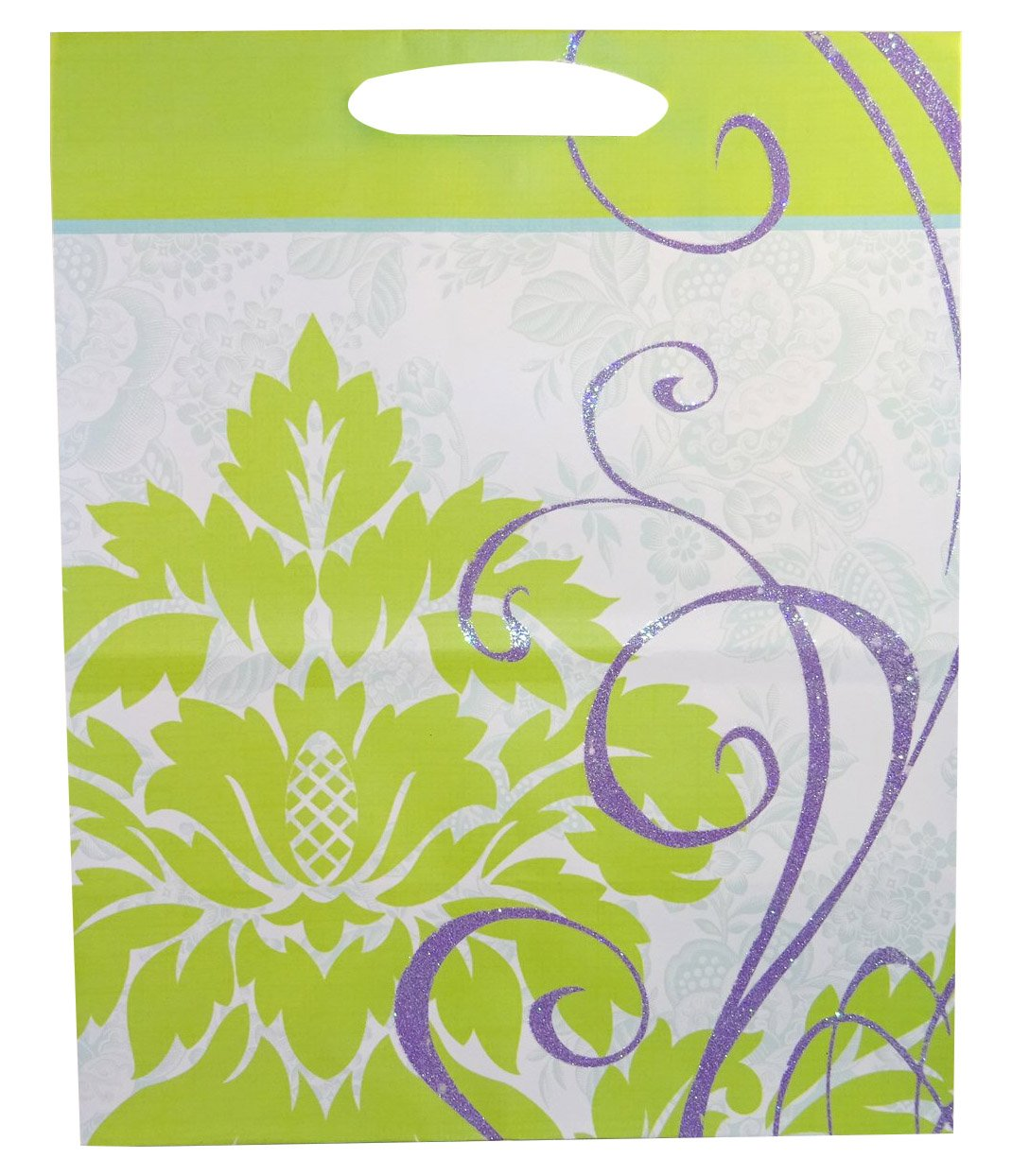 Hallmark Sparkle Lavender Gift Bags, Green