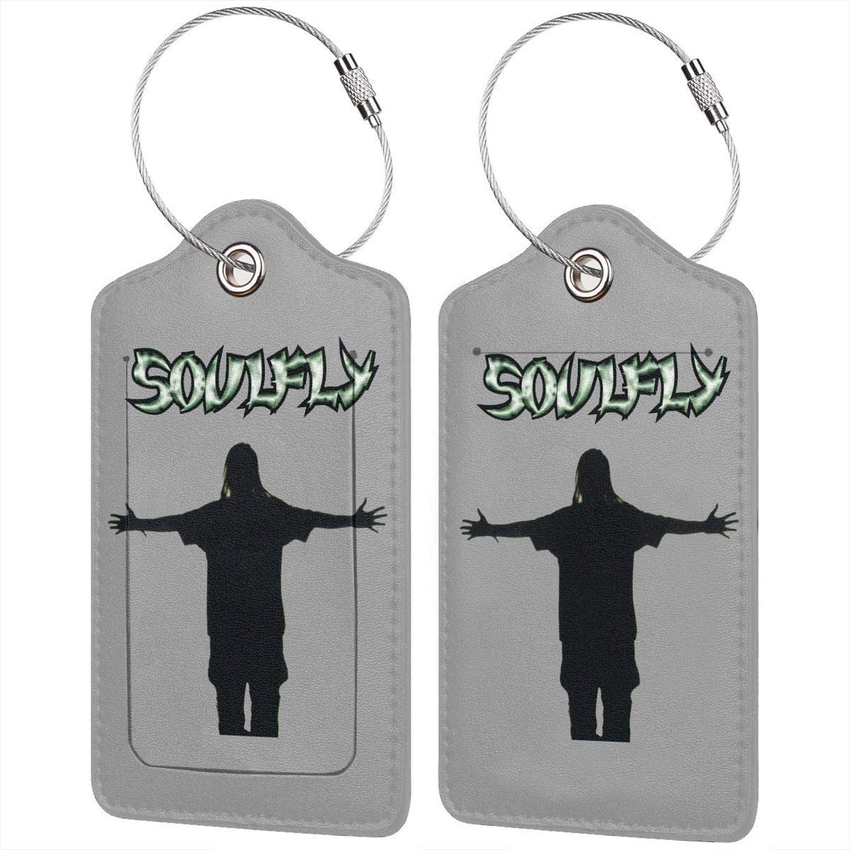 LIKUNMING Soulfly Travel Luggage Tags Travel Suitcase Bag Labels Checked Baggage Tags