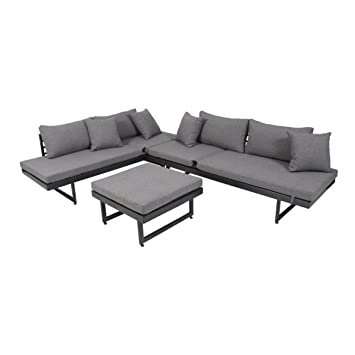 Amazonde Greemotion Lounge Set Calais 3 Teilig Gartenmöbel Set