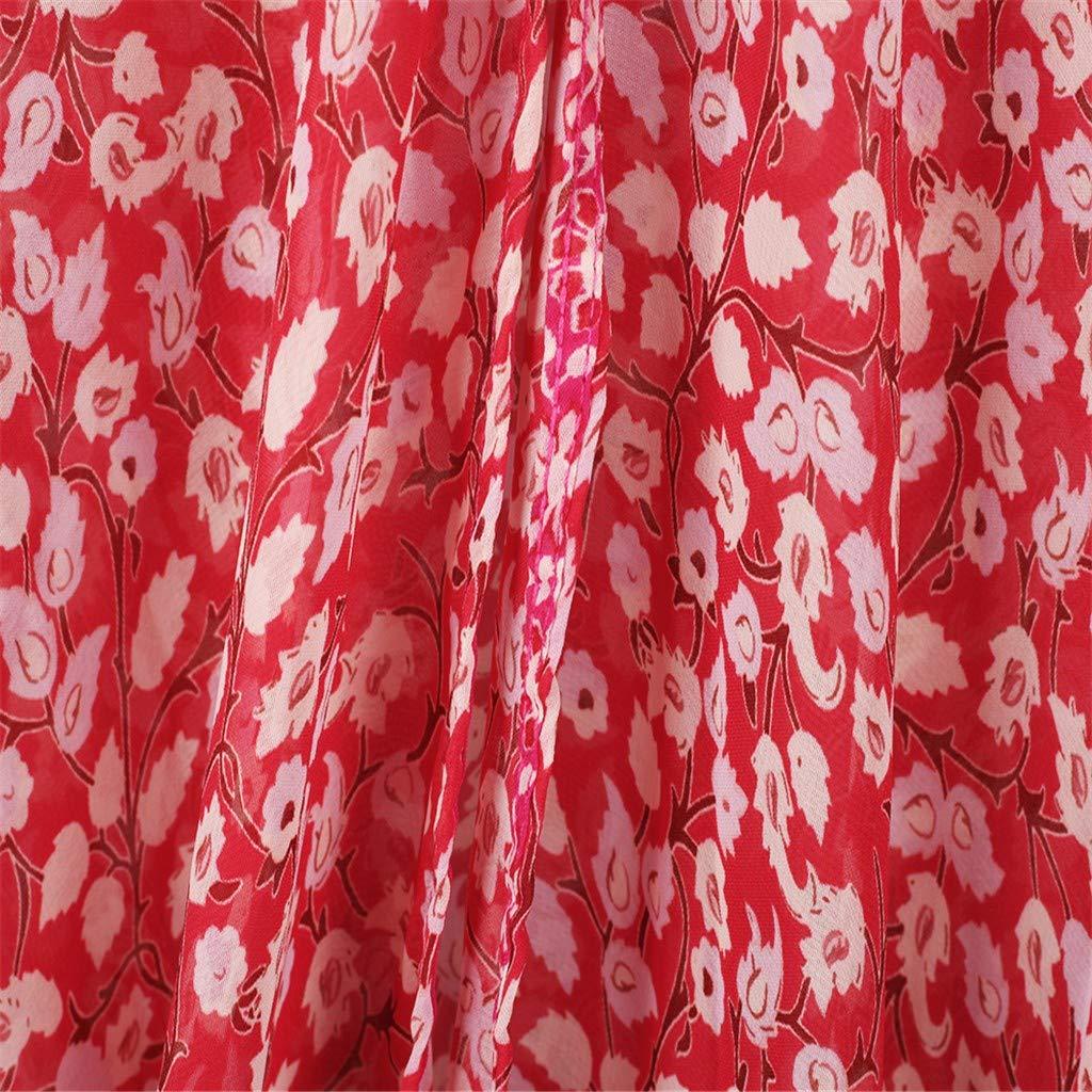 Novania Womens Sheer Chiffon Floral Kimono Cardigan Long Blouse Loose Tops Outwear