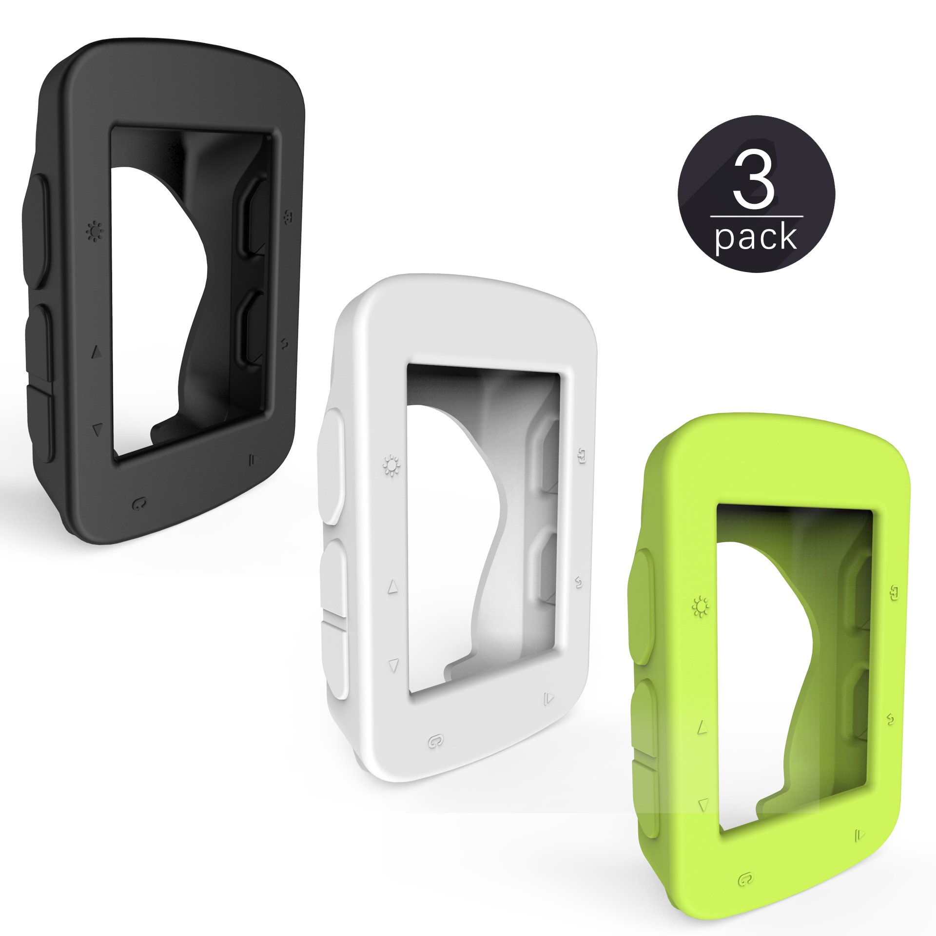 TUSITA [3-Pack] Silicone Case + Screen Protector for GarminEdge520/ Edge 520 Plus/Edge 820 GPS Bike Computer