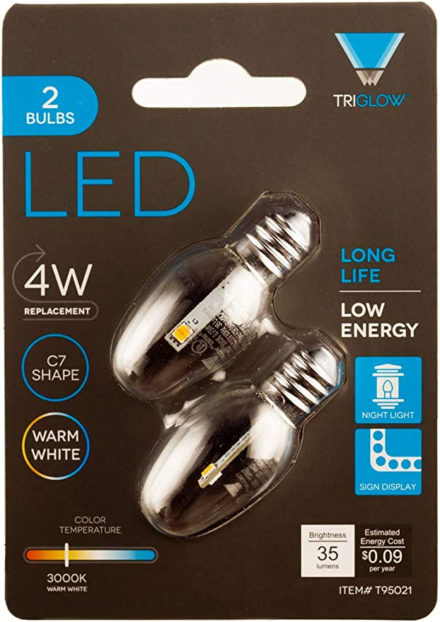 C7 Replacement Bulbs LED Not Fragile,C7 Outdoor String Lights Christmas Replacement Lamps,Fits C7//E12 Candelabra Base,0.5 Watt 25 Pack Multi-Colored