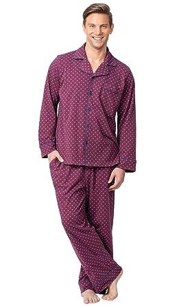 3651b47c2224 PajamaGram Classic Mens Pajamas Cotton - Men Pajamas Set at Amazon ...