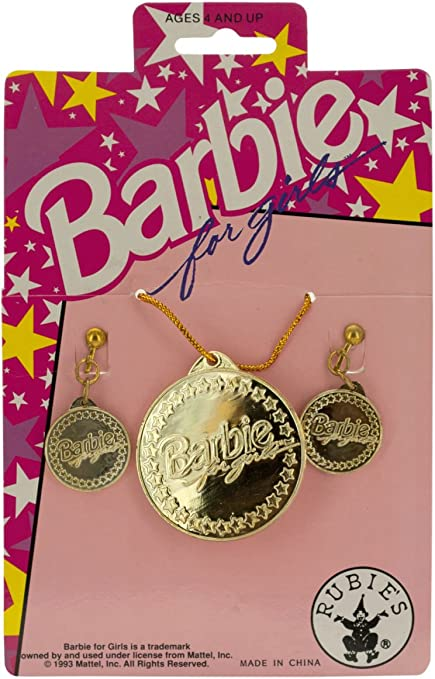 Gold Charm Pendant special Girl W Pink Dress original Version