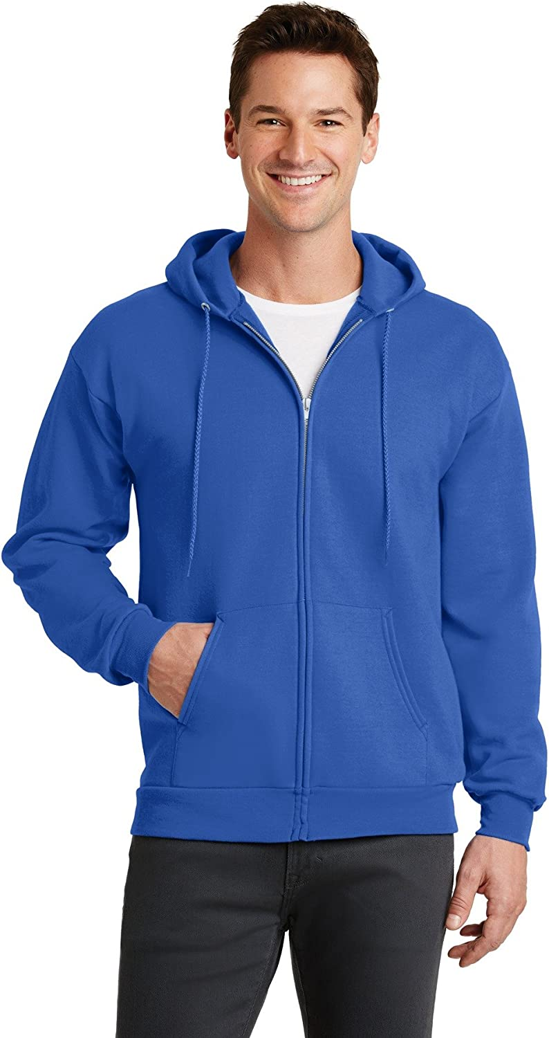 Port /& Company-Core Fleece Full-Zip Hooded Sweatshirt PC78ZH Royal
