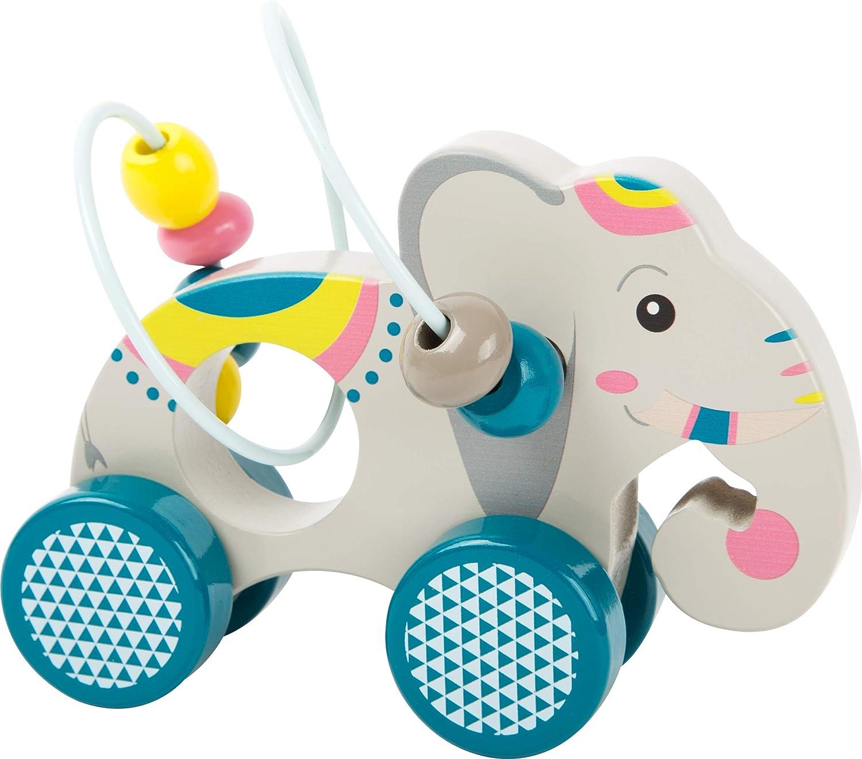 Wooden Handmade Elephant Push Toy