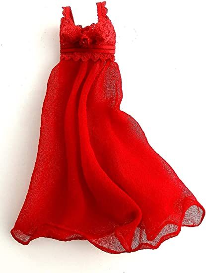 Dolls House Red Nightdress Nightgown Negligee Falcon Miniature Bedroom Accessory