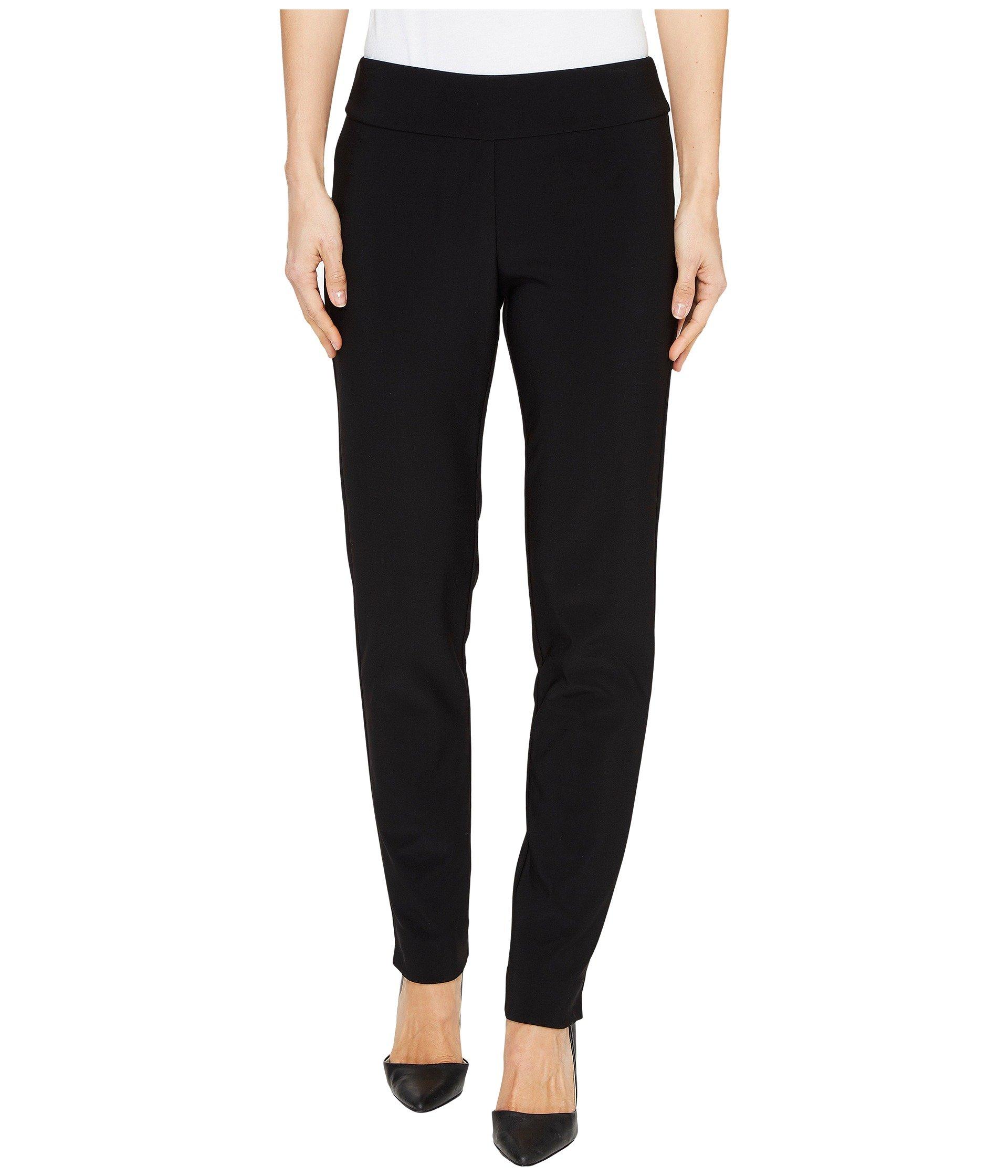 Krazy Larry Women's Microfiber Long Skinny Dress Pants Black Pants