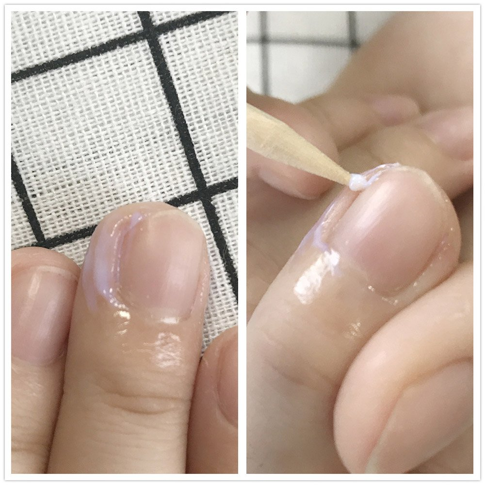 Frenshion 10ML Peel Off Pinzas para arte de uñas de acero inoxidable de látex líquido y Nail Art Juego de herramientas para empuje de cutículas de Orange ...