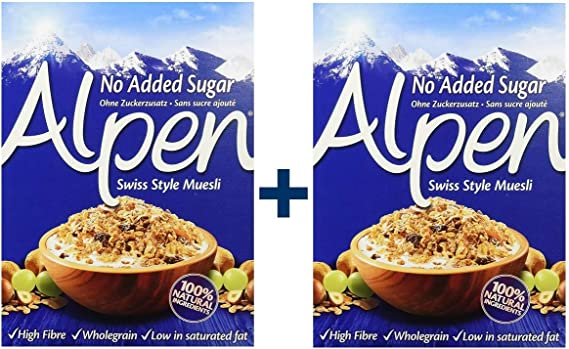 Weetabix Alpen Muesli sin azúcar 560 g, 2er Pack (2x560g): Amazon ...