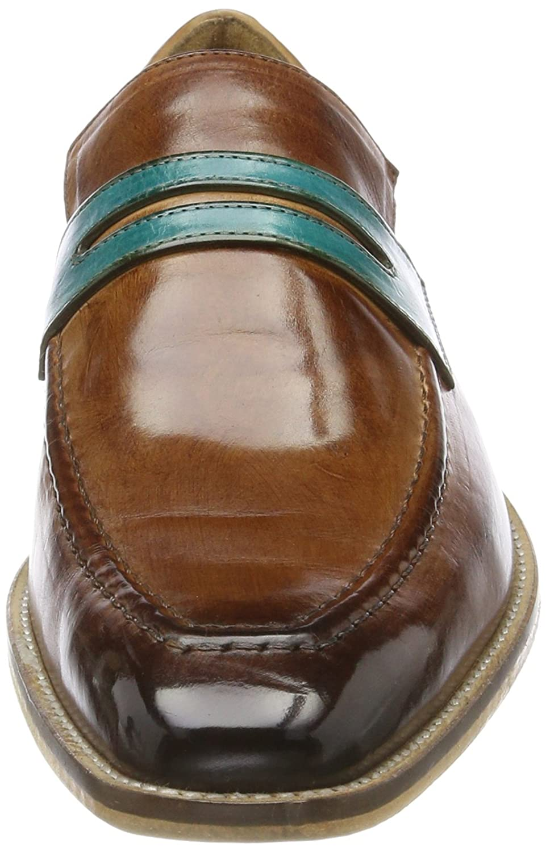 MELVIN & HAMILTON MH HAND MADE Schuhe OF CLASS CLASS CLASS Herren Leonardo 4 Slipper Mehrfarbig (Crust/Tan (1,3)/Ice Blau (2)/Ls Nat.) f673ec