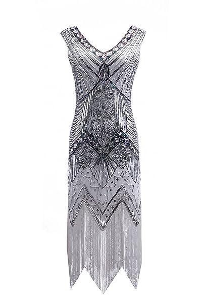 Vestido art déco años 20 para mujer, de la marca Clothin