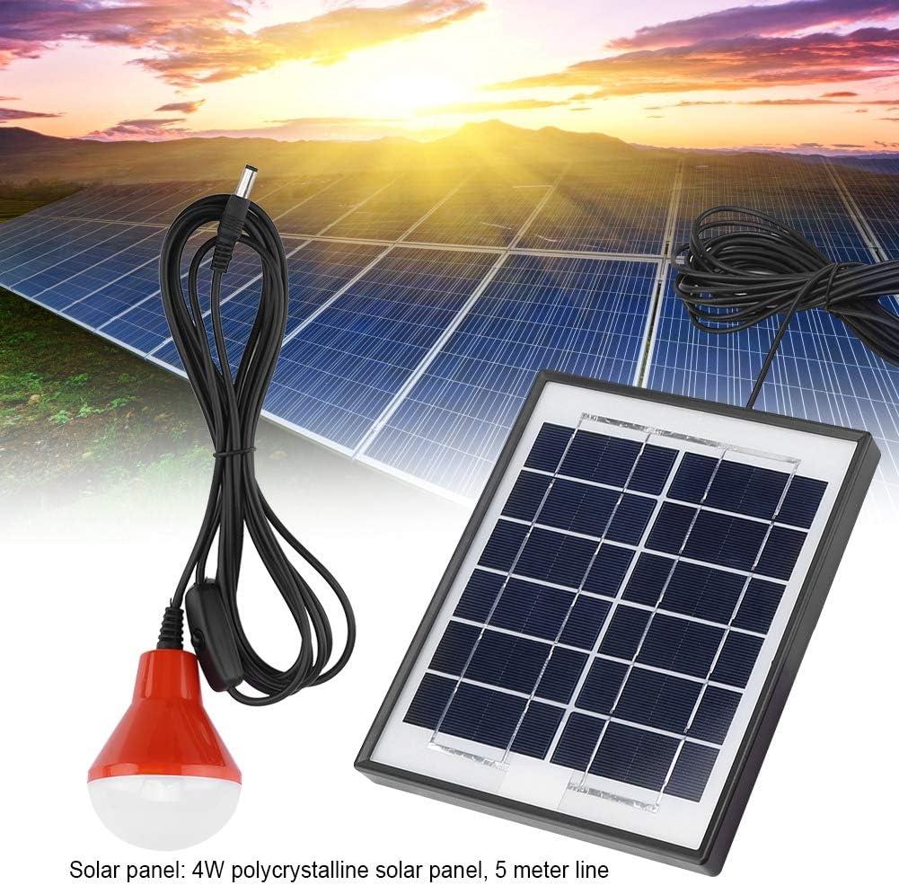 Kit de iluminaci/ón de panel solar de camino canal/ón jard/ín Bater/ía recargable USB 3.7V Energ/ía solar para patio Kit de panel solar con 3 bombillas LED Panel solar