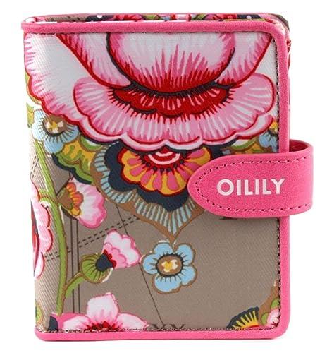 Oilily Fantasy Flora - Monedero con diseño de flores (tamaño pequeño), color marrón claro