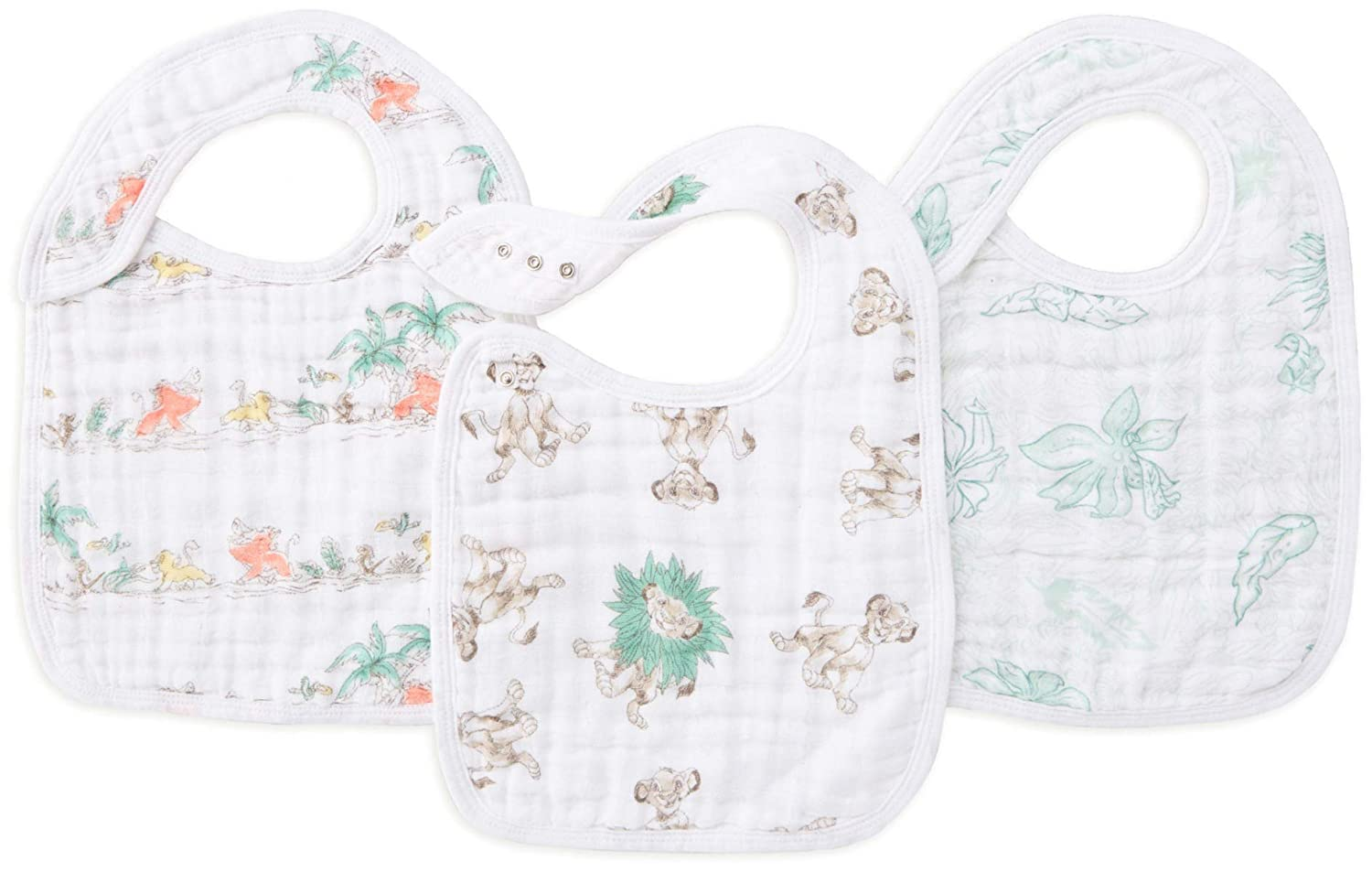 aden anais Winnie The Pooh Disney Baby Snap Bibs Pack of 3