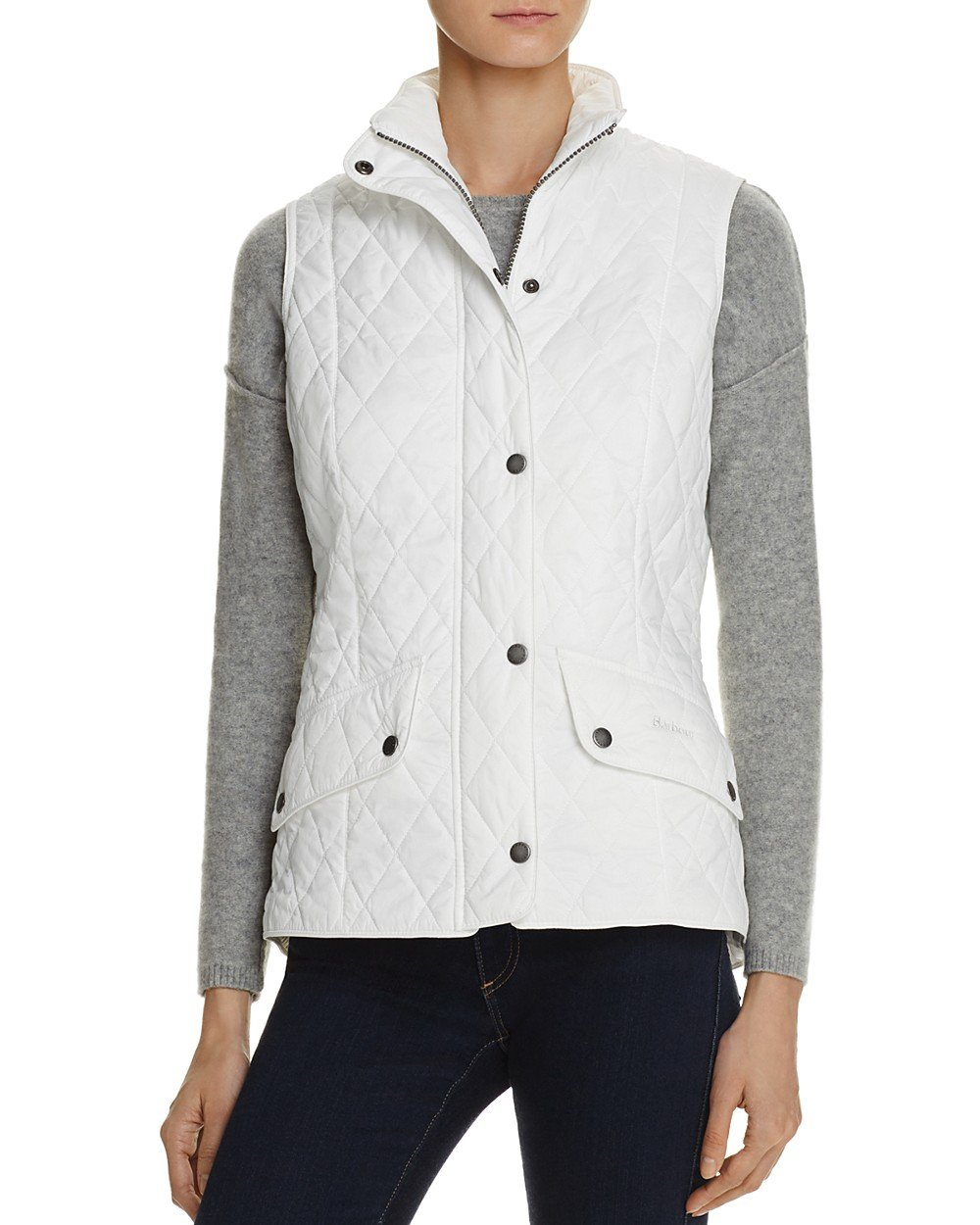 Barbour Women's Flyweight Quilted Vest White Small (Size 6) by Barbour (Image #1)