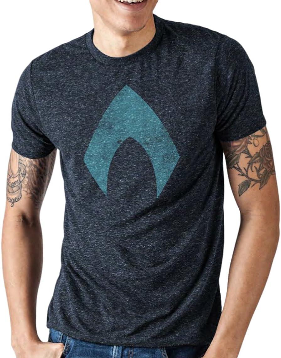 DC Comics Justice League Movie Men's Aquaman Logo T-Shirt