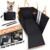 Dog Car Seat Cover, Multifunctional using, 900D Oxford Waterproof Dog Back Seat Covers Protector with Mesh Window- Nonslip, Anti-Scratch, Heavy Duty Pet Car Seat Fits for Cars, Trucks and SUVs (Black)
