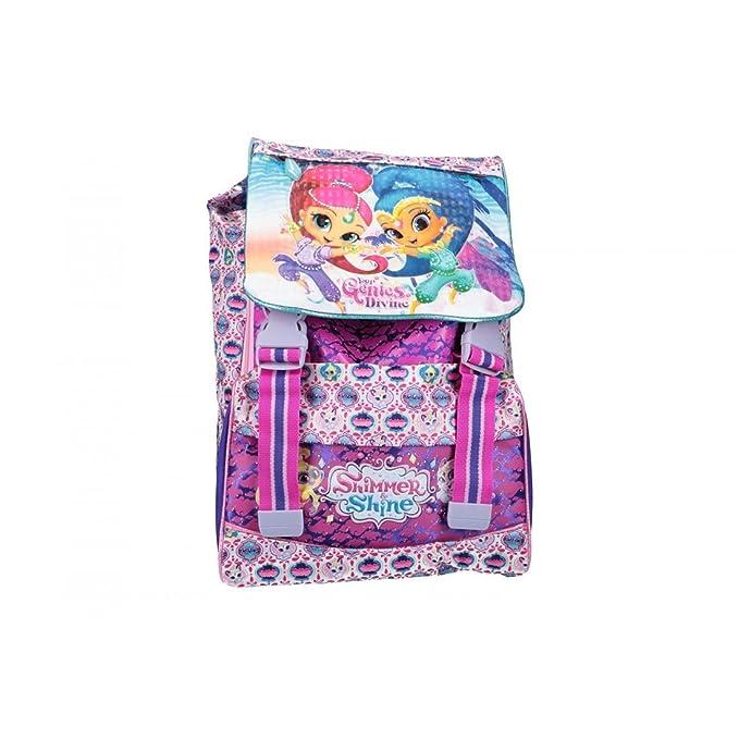 Shimmer And Shine Mochila niño bolsa de ocio escolar extensible violeta VZ856: Amazon.es: Ropa y accesorios