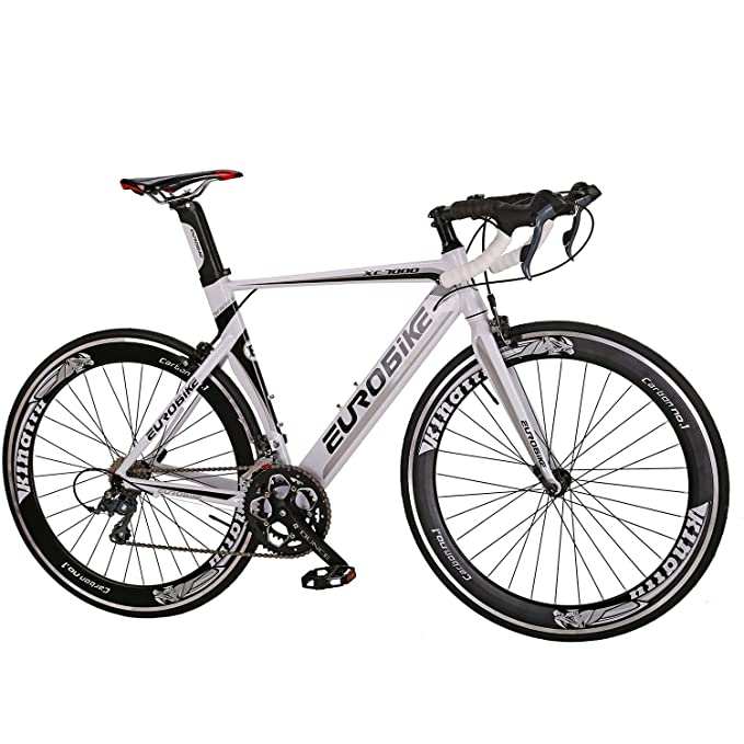 Eurobike Aluminium Road Bike 16 Speed Mens Bicycle 700C Wheels 54cm Frame Racing Commuter best racing bike