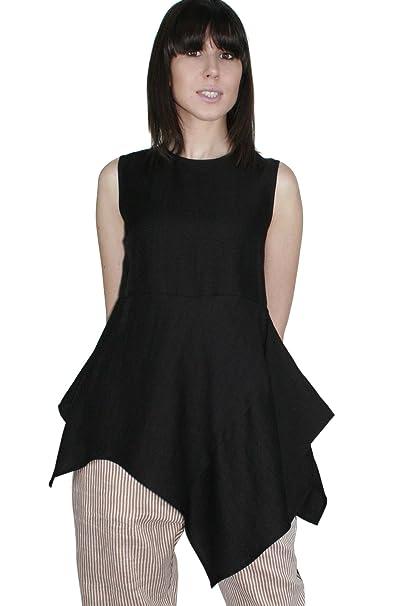 Kaos Sin Para Camiseta Mujer A Túnica Mangas Liso BCBTFw6q