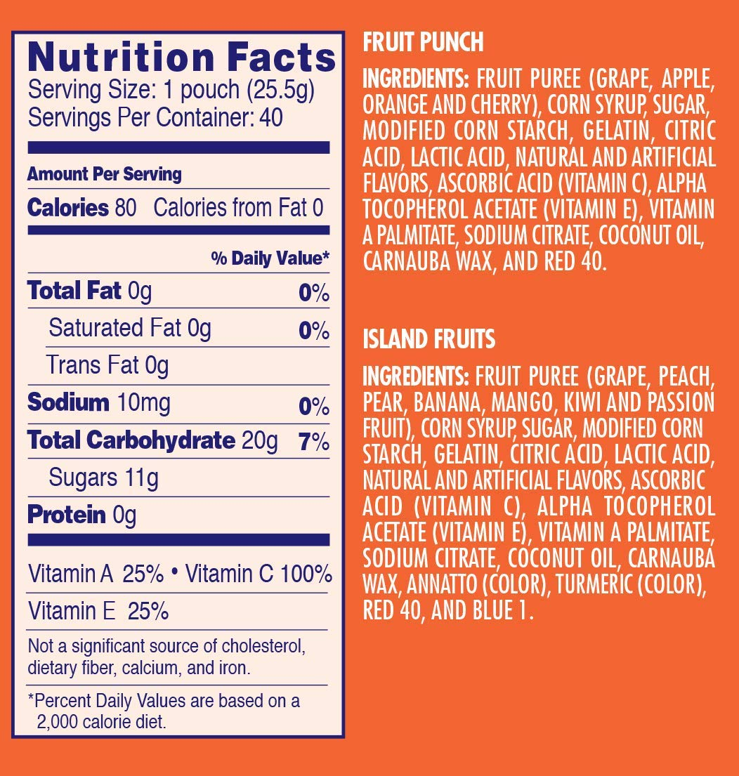 Welch's Fruit Snacks (Fruit Punch & Island Snacks (40 Count)) by Welch's (Image #3)