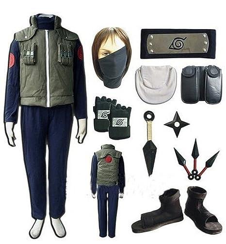 LYLAS Naruto Hatake Kakashi Full Set Cosplay Costume (M)