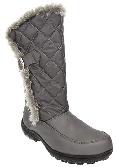 1b286ee64d London Fog Womens Lennox Waterproof Cold Weather Snow Boot Silver 6 M US