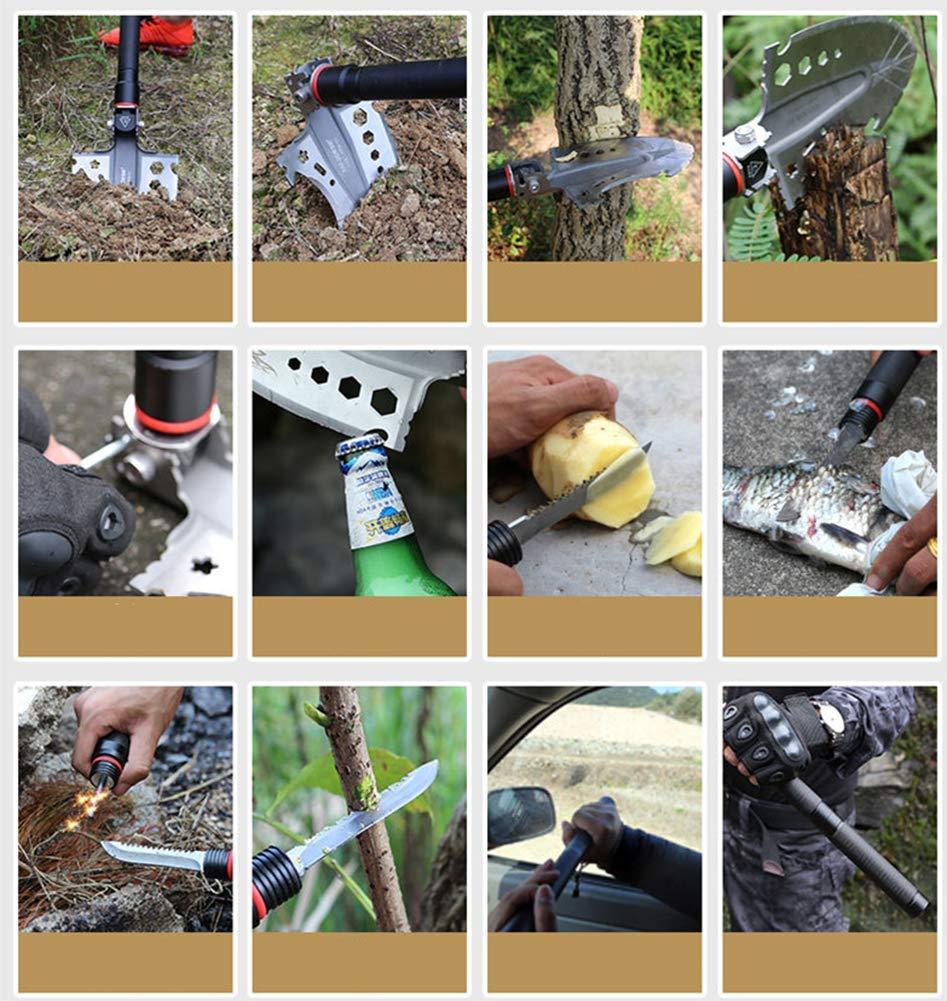 Gartenarbeit TQTQ Multifunktional Klappspaten Mini Camping Schaufel Schaufel mit Kompass Flaschen/öffner und Tragetasche Zum Wander Zum /überleben Camping
