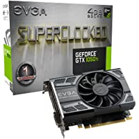 EVGA (04G-P4-6253-KR) NVIDIA GeForce GTX 1050 Ti SC (Single Fan) Gaming, 4GB GDDR5, DX12 OSD Support (PXOC) Graphics Card