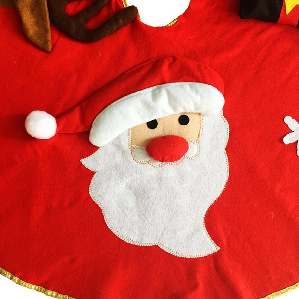 Milopon /Árbol de Navidad /árbol de Navidad/ /Manta /Árbol Navidad decoraci/ón /árbol de Navidad Protectora Redondas /Árbol/ /Manta para /árbol de Navidad 100/cm