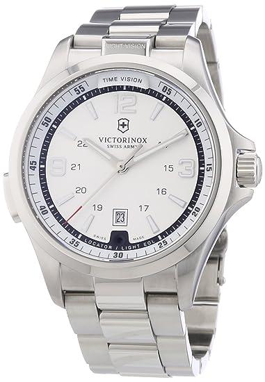 Victorinox Swiss Army 241571 - Reloj analógico de cuarzo para hombre con correa de acero inoxidable, color plateado: Victorinox: Amazon.es: Relojes