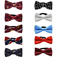 TOPTIE Adjustable Dog Bow Ties Collar Pet Bowties Neckties for Party Grooming Accessories-Set E