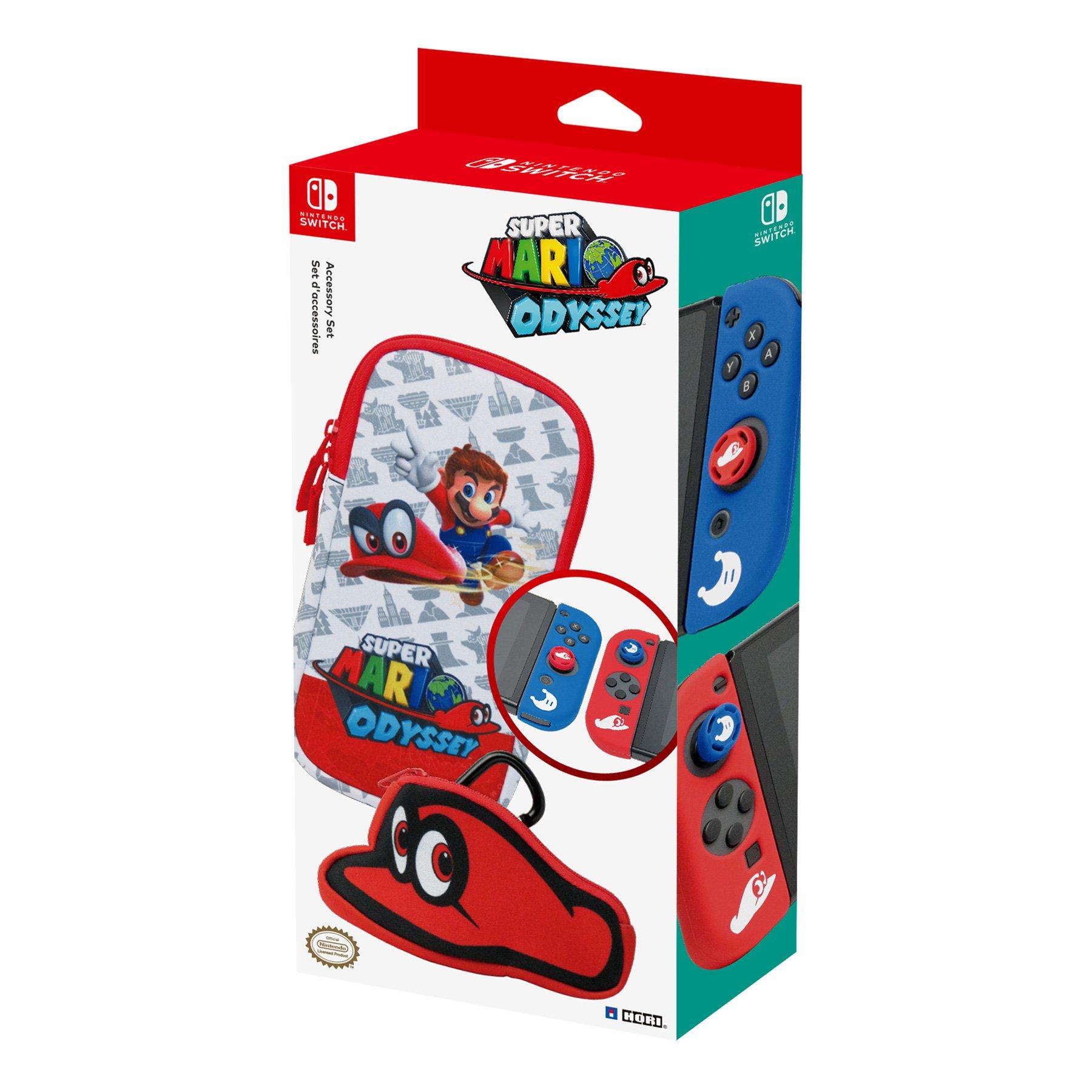 aecf28b6869a7 Amazon.com  HORI Super Mario Odyssey Accessory Set Officially Licensed - Nintendo  Switch  Video Games