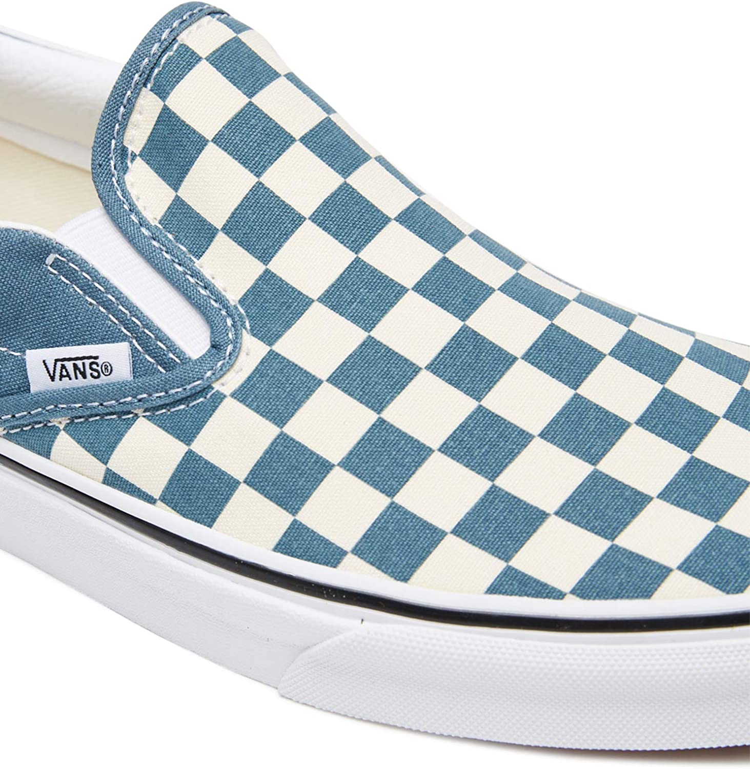 Vans Classic Slip On Schuh (checkerboard blue white)