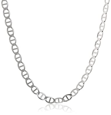 solid white gold mariner chain p necklace s ebay grams anchor mm
