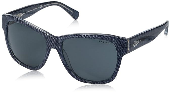 Amazon.com: Ralph ra5226 de la mujer anteojos de sol, Azul ...