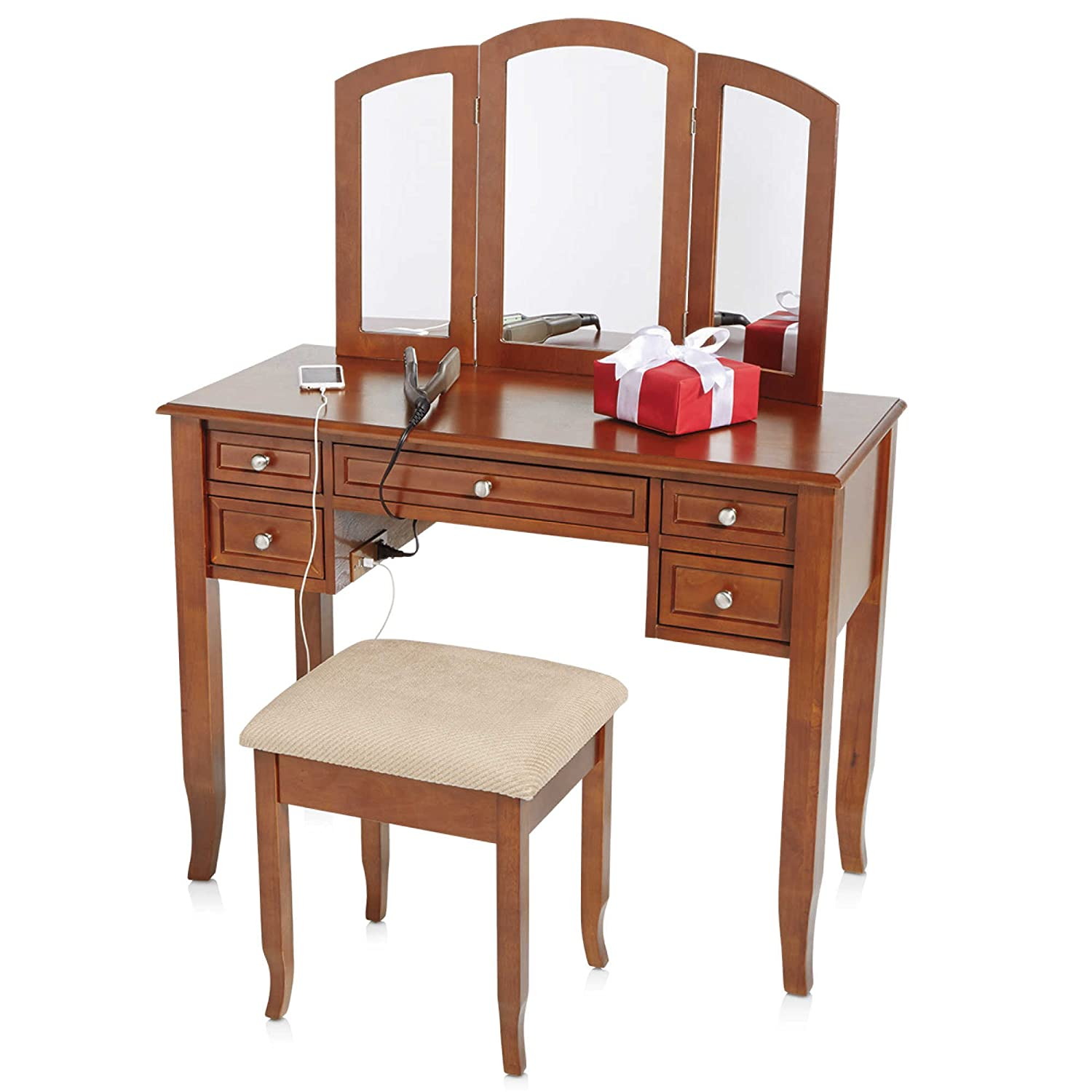 including lights mirror lighted and ideas bedroom fabulous sets set on vanity for with bench