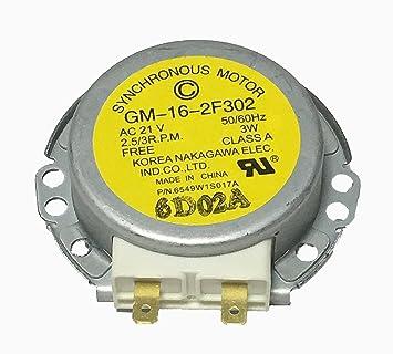 Nueva giradiscos Motor 6549 W1s017 a para LG horno de ...