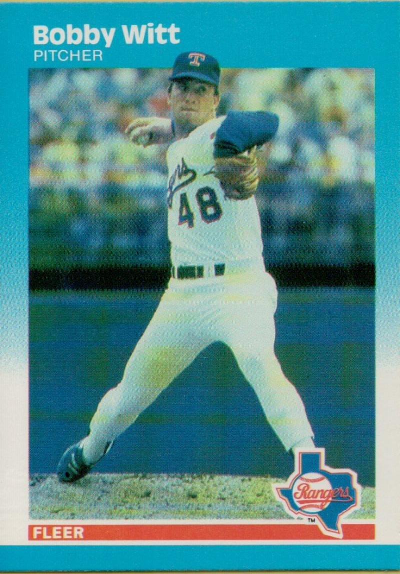 野球MLB 1987 Fleer # 143 Bobby Witt RCルーキーRangers   B06XQJ5JVX