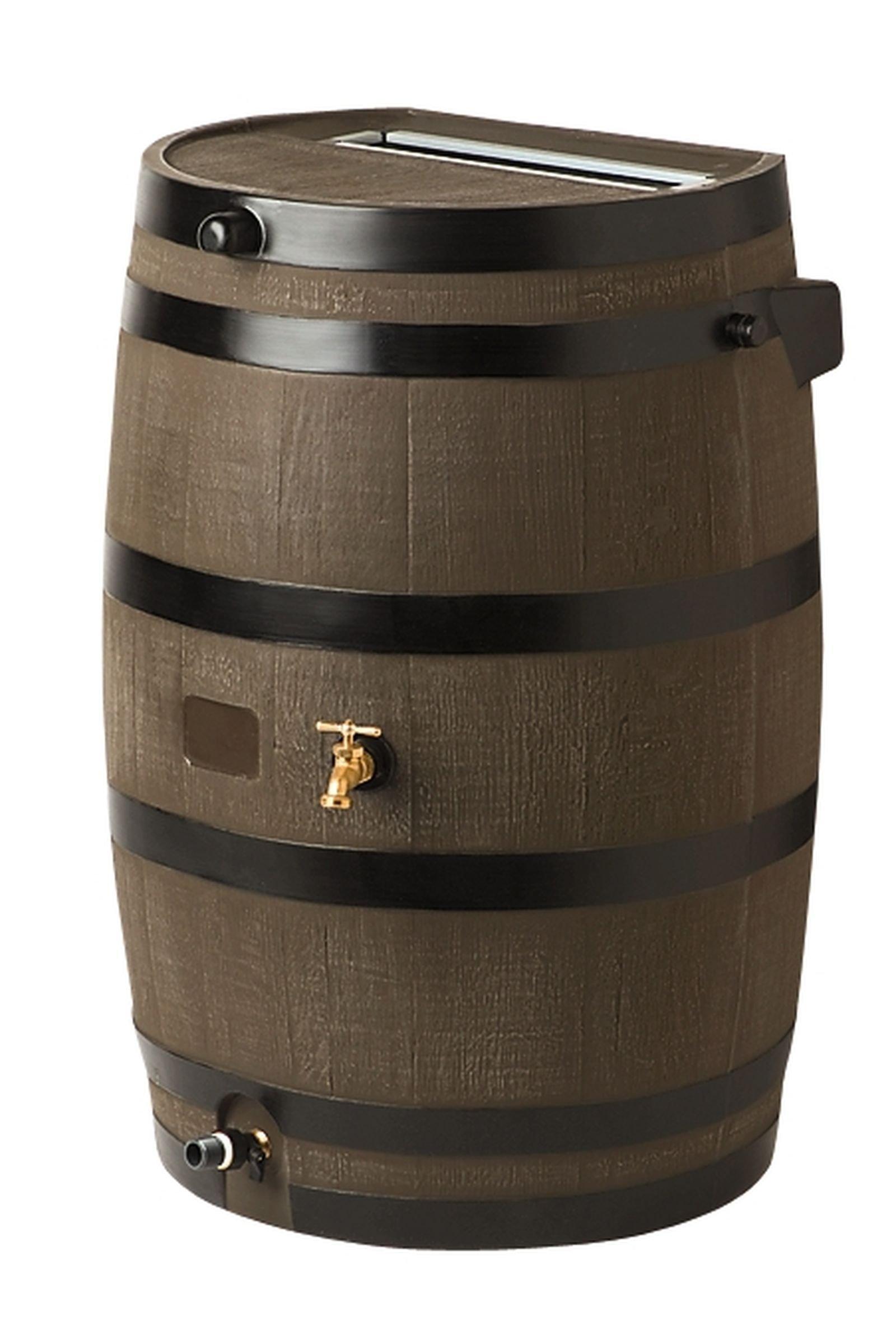 Flat-Back Rain Barrel, Oak