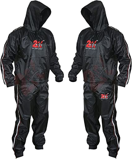 Heavy Duty Sauna Sweat Suit Exercise Gym Suit Fitness Weight Loss Anti-Rip