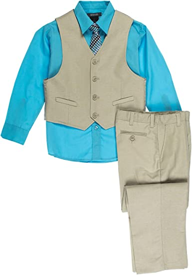 Kenneth Cole Boys Little 4-Piece Dresswear Vest Set
