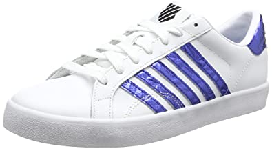 K-Swiss Belmont So, Zapatillas Para Mujer, Blanco (White/Gold/Black), 35.5 EU