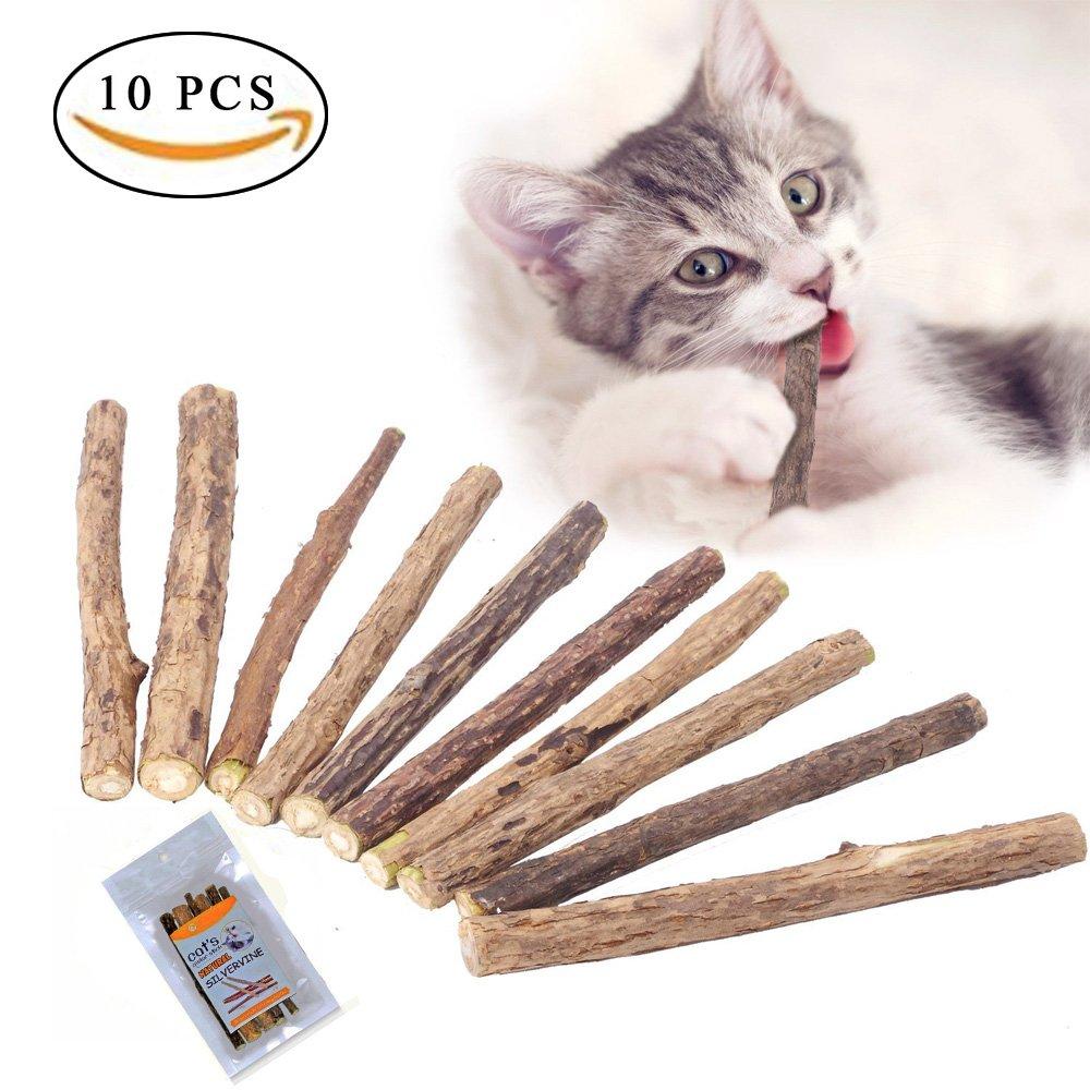 MAIYADUO 10 PCS Herbe à chat jouet pour chat, clés chat Dental Chew, jouet pour chat, participate une Soin des dents et naturelle pour aider à dents Bouche Odeurs et pierre